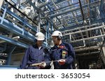 two engineers with hard hats... | Shutterstock . vector #3653054