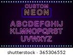 set retro custom neon signs... | Shutterstock .eps vector #365306552