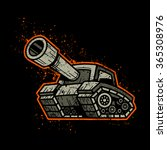 cartoon army tank machine with...   Shutterstock .eps vector #365308976