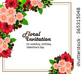 invitation with floral... | Shutterstock .eps vector #365315048