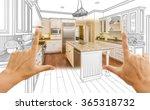 female hands framing custom... | Shutterstock . vector #365318732