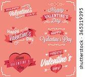 valentines day illustrations...   Shutterstock .eps vector #365319395