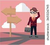 business man confusing way | Shutterstock .eps vector #365326745
