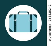 suitcase icon design  | Shutterstock .eps vector #365328242