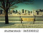 Bench In Front Of Montreal...