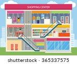 shopping center buiding design. ... | Shutterstock .eps vector #365337575