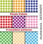 set of nine samples checkered... | Shutterstock . vector #365340695