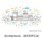 linear flat architecture... | Shutterstock .eps vector #365349116
