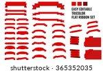 new vector set of tricolor ... | Shutterstock .eps vector #365352035