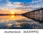 u bein bridge in mandalay ... | Shutterstock . vector #365359952