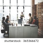 business team busy working... | Shutterstock . vector #365366672