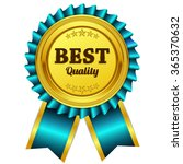 best quality blue seal  label... | Shutterstock .eps vector #365370632