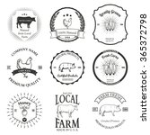 set of agriculture label design ... | Shutterstock . vector #365372798