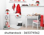 santa costume hanging in white... | Shutterstock . vector #365374562