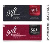 gift voucher template vector... | Shutterstock .eps vector #365384378