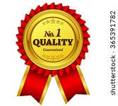 number one quality guaranteed... | Shutterstock .eps vector #365391782