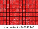 bright abstract mosaic red... | Shutterstock . vector #365392448