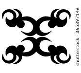 tribal tattoo vector design... | Shutterstock .eps vector #365397146
