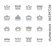 crown icon set | Shutterstock . vector #365397236
