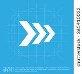 vector next arrow icon | Shutterstock .eps vector #365410022