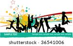everyone dancing and having fun.... | Shutterstock .eps vector #36541006