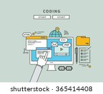 simple color line flat design... | Shutterstock .eps vector #365414408