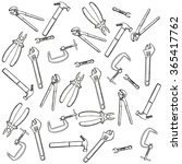 tools background stock image | Shutterstock . vector #365417762