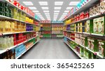 Supermarket Interior With...