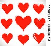 set of grunge hearts   vector | Shutterstock .eps vector #365428832