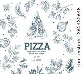 pizza design template. vector... | Shutterstock .eps vector #365432648