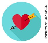 Love Heart Pierced With Arrow...