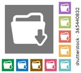 folder download flat icon set...
