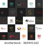 set of linear abstract logos.... | Shutterstock .eps vector #365441162