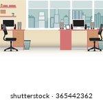 Office Interior Vector Busines...