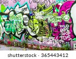 beautiful street art graffiti.... | Shutterstock . vector #365443412