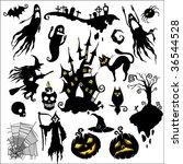 set of vector illustrations.... | Shutterstock .eps vector #36544528