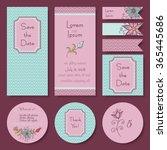 vector set of wedding  baby... | Shutterstock .eps vector #365445686