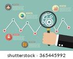 hand holding magnifying glass... | Shutterstock .eps vector #365445992