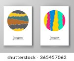 set of abstract design... | Shutterstock .eps vector #365457062