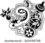 the illustration of the dragon... | Shutterstock .eps vector #365458748
