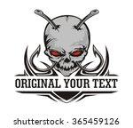 skull hook tribal | Shutterstock .eps vector #365459126