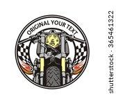 cafe racer emblem circle | Shutterstock .eps vector #365461322