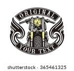 cafe racer emblem wings | Shutterstock .eps vector #365461325