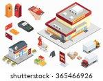 supermarket exterior  online... | Shutterstock .eps vector #365466926