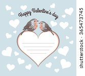 Card Valentine's Day with birds
