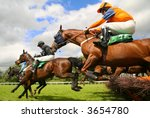 Stock photo jumping horses 3654780