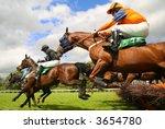 Stock photo jumping horses 3654780