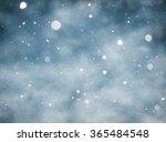 snow falling winter background | Shutterstock . vector #365484548