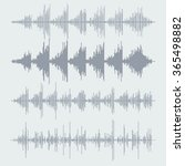 sound waves set. audio... | Shutterstock . vector #365498882