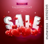 valentines sale sign with red... | Shutterstock .eps vector #365502545
